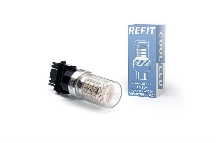 Светодиодная лампа 3156-P27W REFIT красная - фото 5792